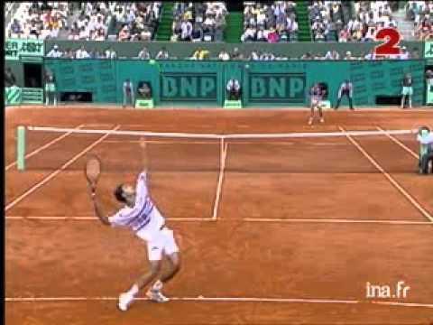 Pete Sampras great shots selection against Andrei Cherkasov (Roland Garros 1993 1R)