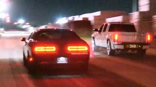 Hellcat Gets Smoked by GMC Truck!?!