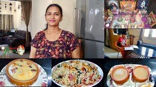 Indian Mom Evening Tea Time To Dinner Routine Vlog In Telugu 2019 || Senagapappu Payasam