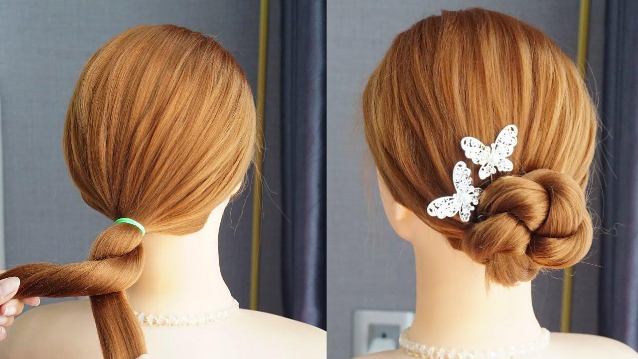 Cool 1 Minute Hairstyle Hacks - Prom Hairstyles Updos Tutorial | Elegant Hairstyles Easy
