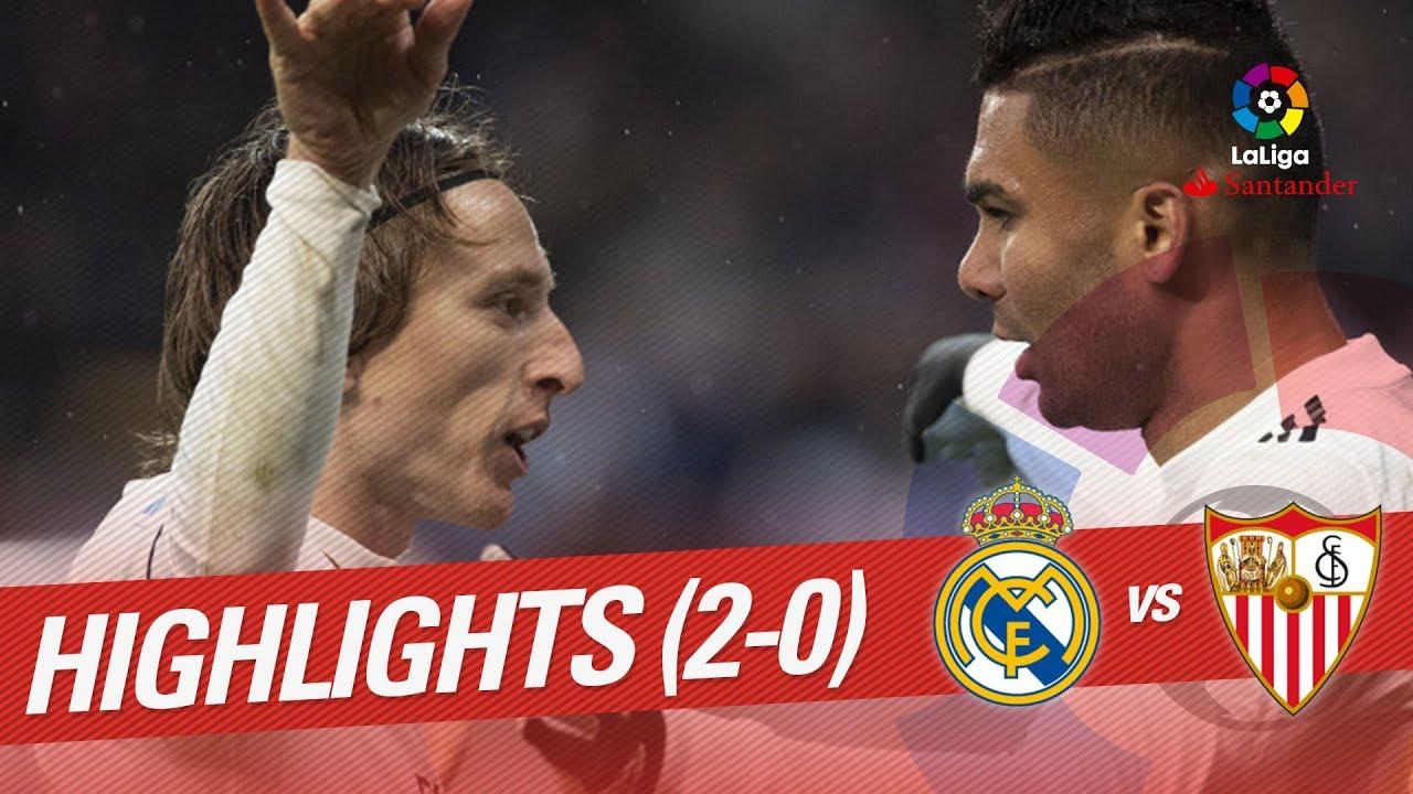 Highlights Real Madrid Vs Sevilla Fc 2 0 Youtube