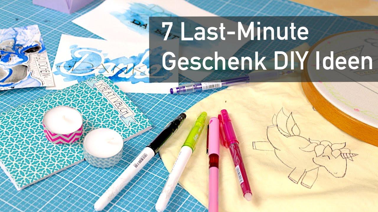 7 LastMinute DIY Geschenk Ideen  YouTube