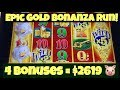 🐷 Epic Run On Gold Bonanza Slot 🐷 4 X Huge Bonuses + Neighbor's Jackpot Line Hit Casino Pokies