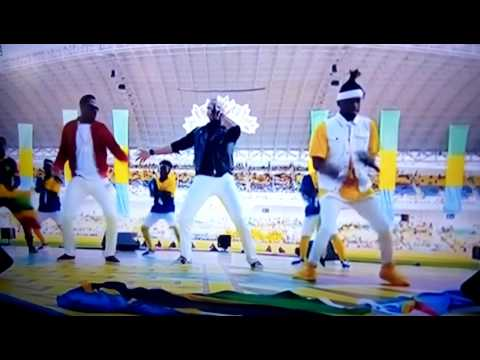 Show ya Diamond platnumz &mohombi live performance in Gabon during afcon opening