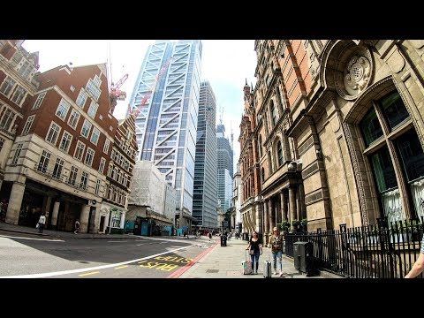London Walk Around. Liverpool Street Station And The Surroundings, The City Of London