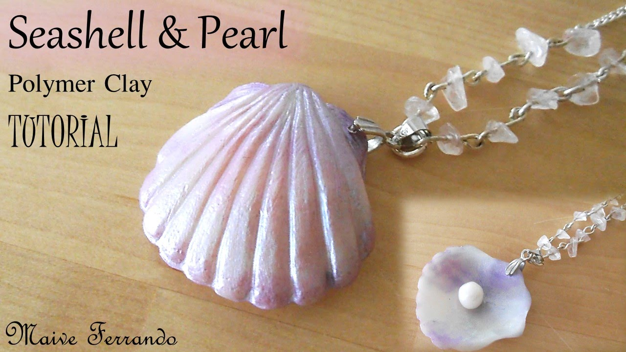 seashell maive watch pearl ferrando stud and polymer clay youtube tutorial