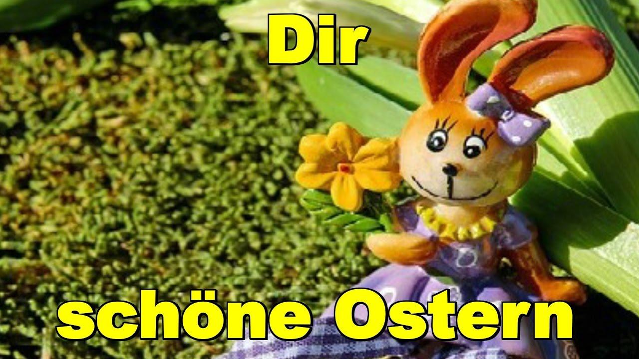 Dir Wünsche Ich Schöne Ostern Ostertage Und Will Dir Sagen