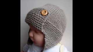 Baby Aviator Hat Regan - Knit Baby Hats Pattern Presentation