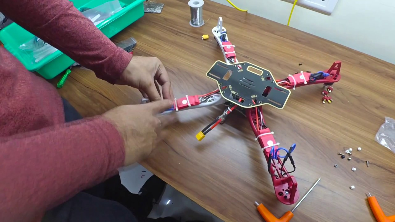 How to assemble F450 Quadcopter drone with pixhawk