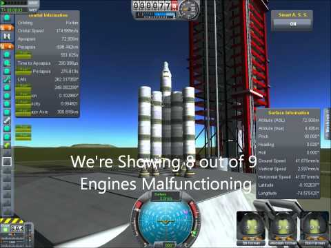 Compilation Of Crashes, Explosions and Mishaps in Kerbal Space Program
