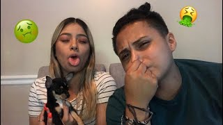 Meet my new puppy + the what's in my mouth challenge