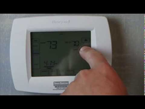 honeywell th 8000 thermostat service champions youtube rh youtube com honeywell th8000 series installation manual honeywell thermostat visionpro th8000 manual