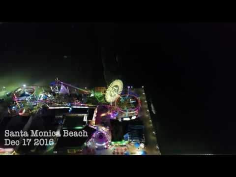 DJI Phantom 4 Pro 4K footage - Santa Monica