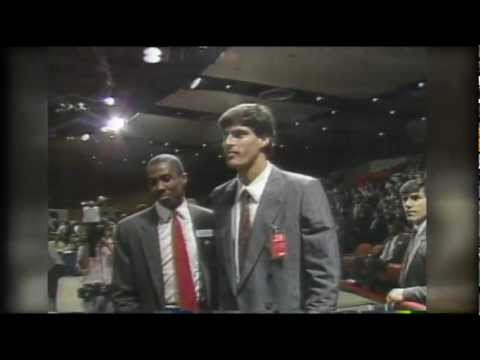 Utah Jazz select Jose Ortiz in 1987 NBA Draft