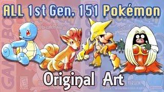 First 151 Pokémon - Original Art [Red and Blue]