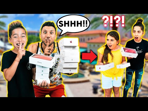 GIVING Away IPHONE'S To RANDOM PEOPLE & Not Saying Anything! *EPIC REACTIONS* | The Royalty Family