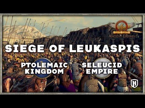 SIEGE OF LEUKASPIS | Ptolemaic Kingdom v Seleucid Empire - Ancient Empires (Total War: Attila Mod)