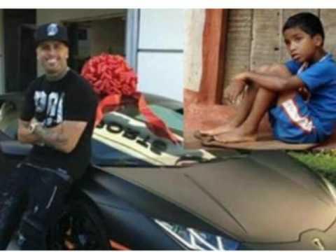 9bc8639a7 Mira lo que le regalo nicky jam al niño que encontró las llaves de su coche