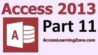 Microsoft Access 2013 Tutorial Level 1 Part 11 of 12 - Customer Reports thumbnail