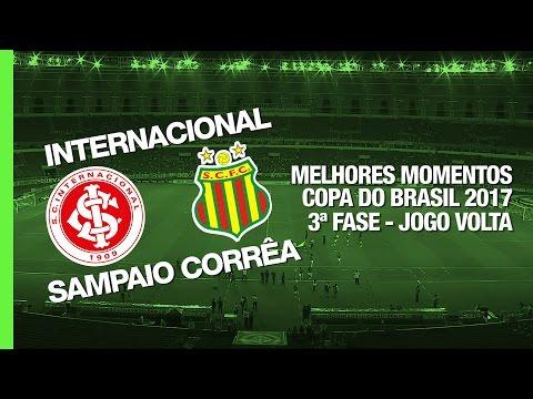 Melhores Momentos - Internacional 3 x 0 Sampaio Corrêa - Copa do Brasil - 15/03/2017