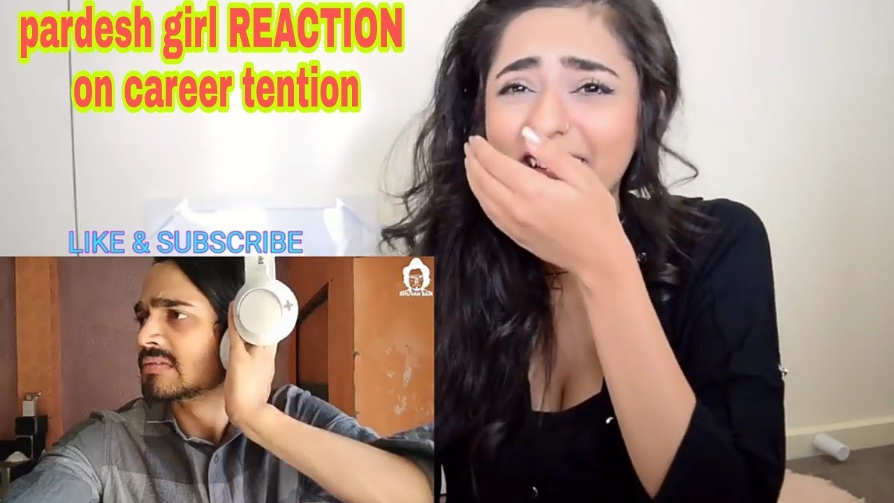 Download BB Ki Vines career tention REACTION  pardesi girl reaction on bb ki vines carrer REACTION hd