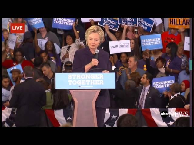 Hillary Clinton supporters shove and boo Bill Clinton Rape Protestor