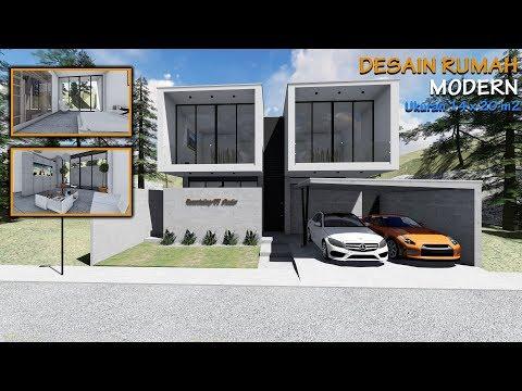 Desain Rumah Modern Ukuran 14 x 20 M2