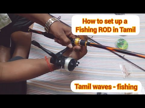 How To Setup A Fishing Rod In Tamil For Begginers Full Episode