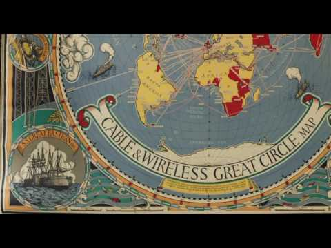 Cable & Wireless map MacDonald Gill's 'Great Circle' world map. FLAT EARTH ADDICT 85