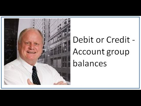 Debit or Credit - Account group balances