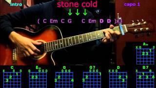 stone cold demi lovato guitar chords