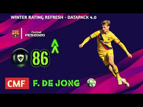 PES 2020 | FC BARCELONA PLAYERS WINTER RATINGS REFRESH | FT MESSI,DEJONG,FATI ETC.