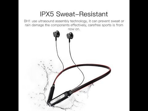 QCY BH1 wireless headphones IPX5 waterproof sports Bluetooth
