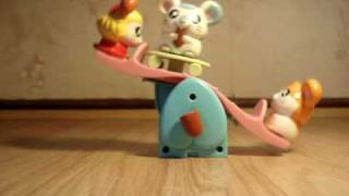 Plastic Wind Up Toy By Anythingsell79 Rocking Horse Hamtaro 2