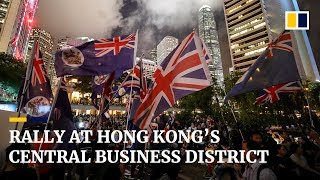 Rally at Hong Kong's central business district