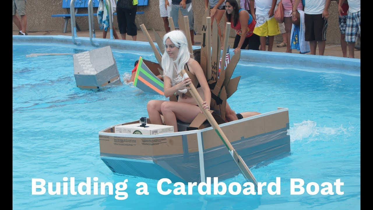 Building a Boat Hull using Cardboard and Duct Tape - YouTube