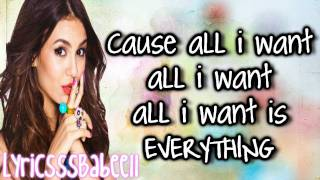 Victoria Justice (Victorious) All I Want Is Everything (with lyrics+download link) HD