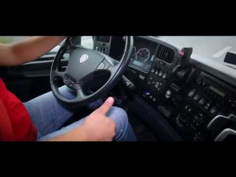 Eco-driving - economical truck driving - starting the engine and braking