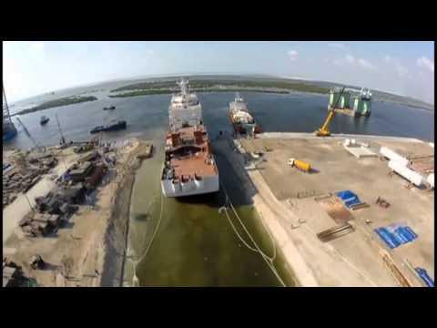 Launching of CableShip Maram - E-marine PJSC