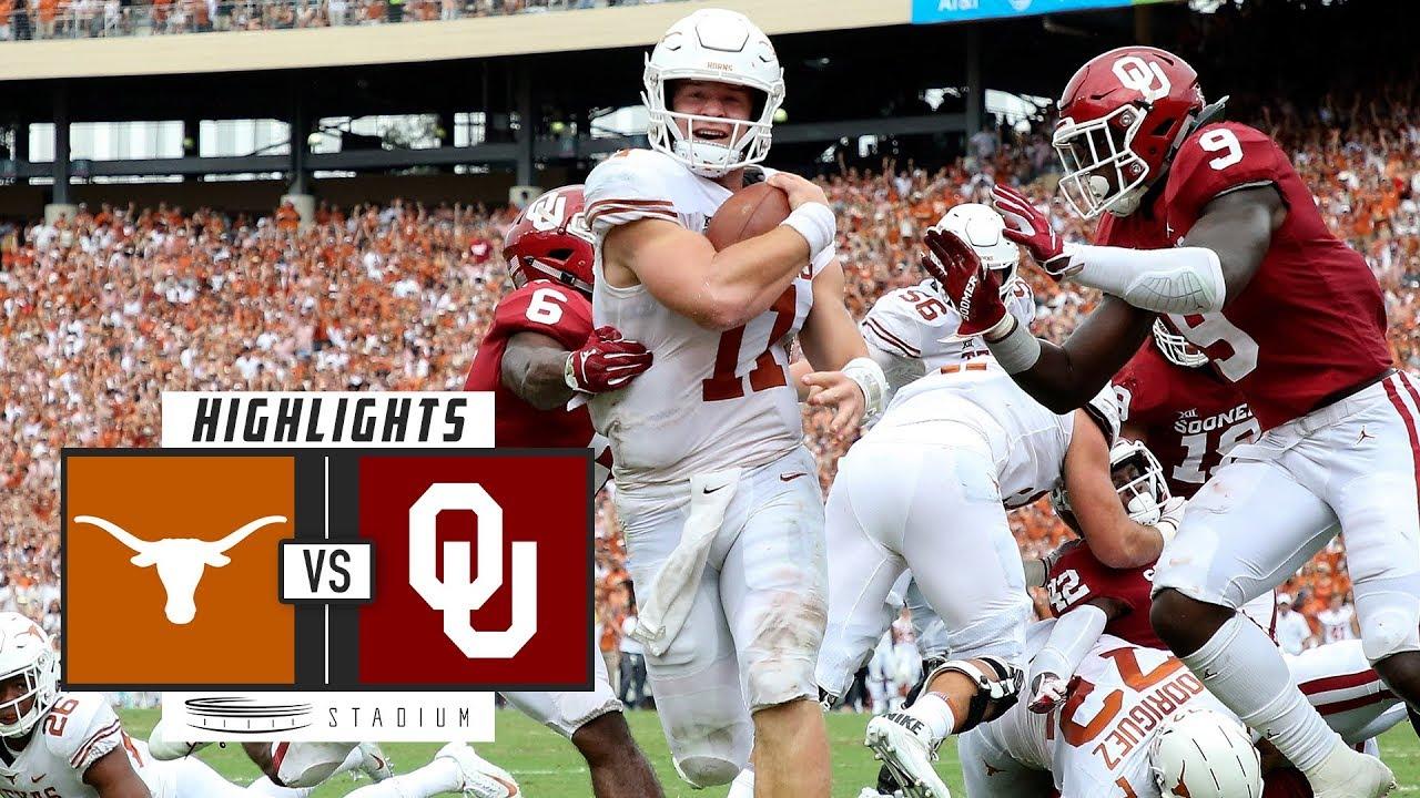 Texas vs. Oklahoma Football Highlights (2018) | Stadium ...