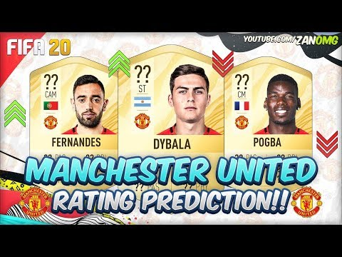 Fifa 20 Manchester United Players Rating Prediction Ft