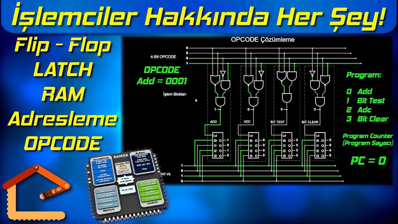 İşlemciler Nasıl Çalışır? Flip - Flop, LATCH, RAM, Adresleme, CPU, OPCODE ve Dahası 2/2 #4
