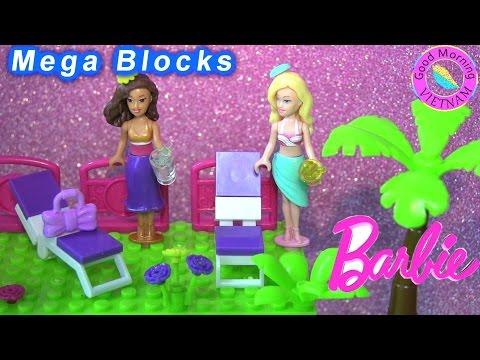Lego Mega Bloks Nhà Nghỉ Mát Của Barbie 2016 (Chị Bí Đỏ) Mega Bloks Barbie beach house
