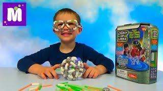Светящийся конструктор делаем светящийся шар и очки Light Up Links set make ball etc