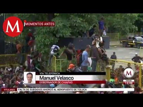 Manuel Velasco habla sobre los migrantes hondureños en México