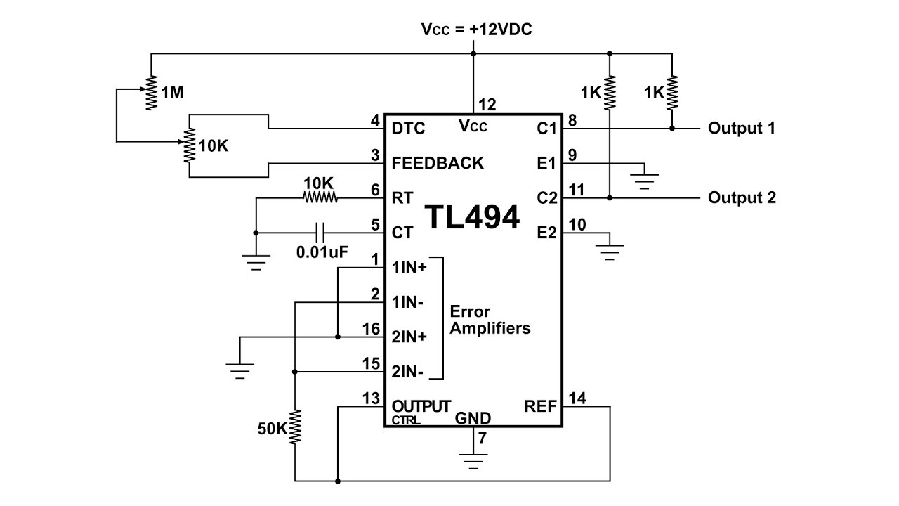 hight resolution of tl494 pulse width modulation control circuit