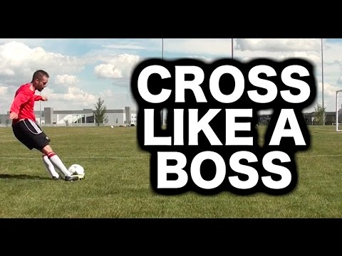 How To Cross A Soccer Ball Or Football ► Soccer Tips For Crossing With Quality