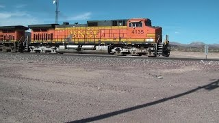 Railfanning the BNSF Needles Sub in August 2015 Part 1 HD