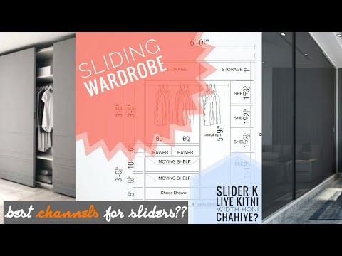 SLIDING WARDROBES IN HINDI    DETAILS    SECTIONS USAGE    WHY SLIDING? ARCHITECT'S WORLD