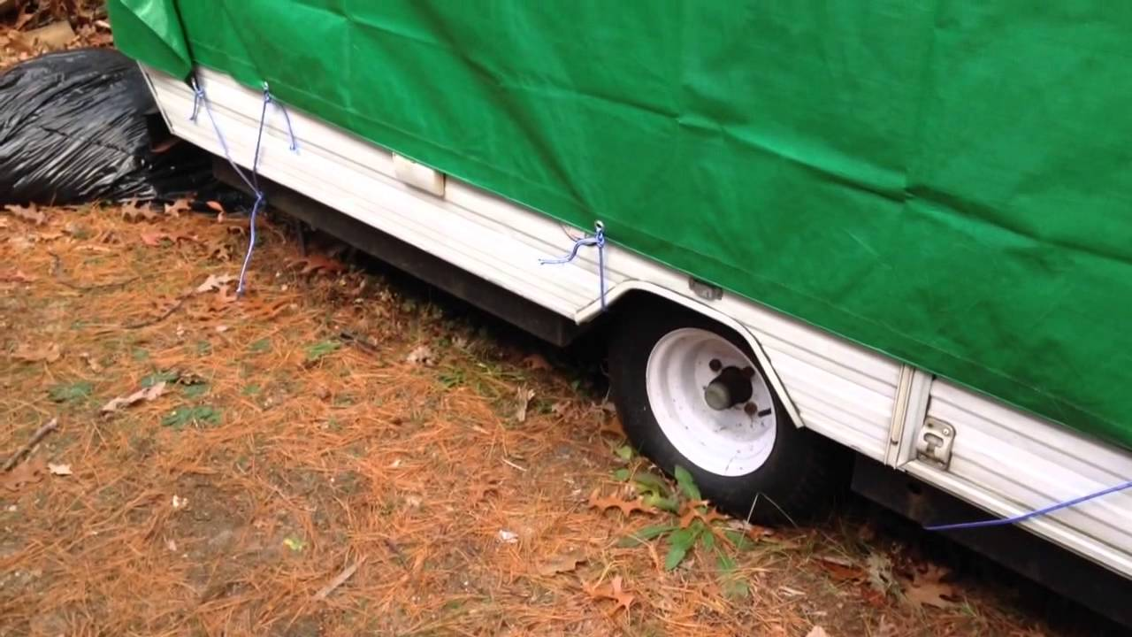 Cover A Popup Tent Trainer With Water Proof Tarp Winter